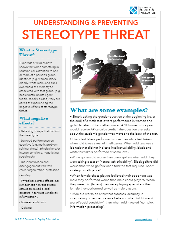 """an analysis of the stereotype threat """"you throw like a girl:"""" the effect of stereotype threat on women's athletic performance and gender stereotypes."""